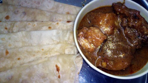 Chicken Curry with Paratha