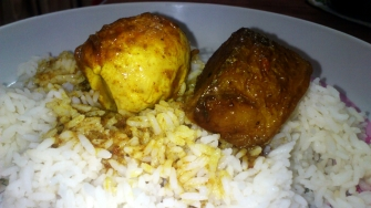 Egg Curry with Rice