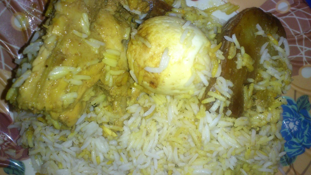Chicken Biriyani on my plate